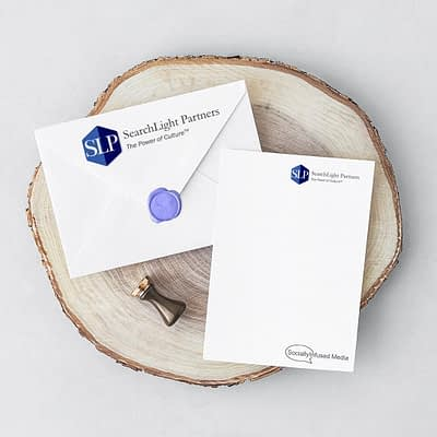 SearchLight Partners stationary amd branding