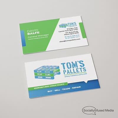 Tom's Pallets Business Card Design