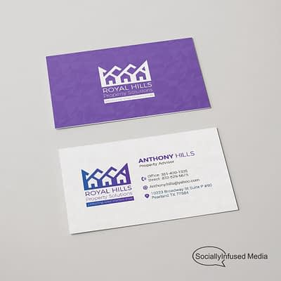 Royal Hills Property Management Business Card