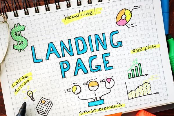 Designing a landing page