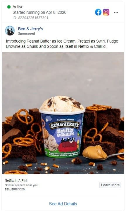 Ben&Jerry's new ice cream flavor, Netflix&Chill'd