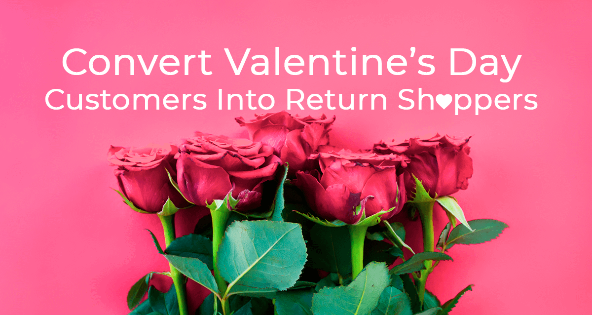 Roses on valentine's day for ecommerce