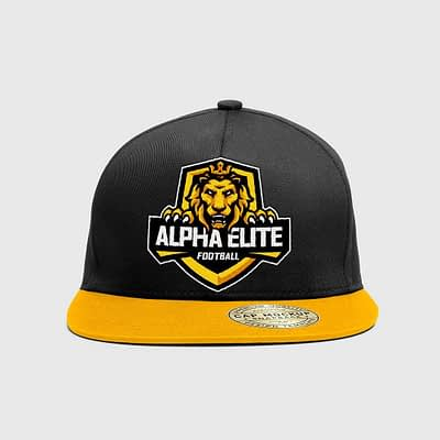 Alpha elite hat from the front view