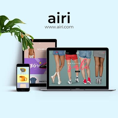 Airi website design