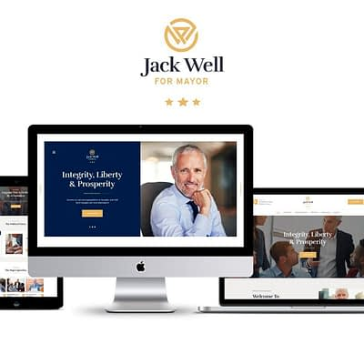 Mayoral candidate Jack Well's new website.