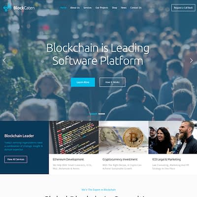 Blockaten's new website design.