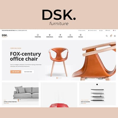Website design for DSK furniture